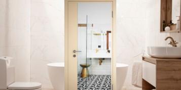 Двулицева врата за баня с огледало - хитрият начин да получите 2 в 1