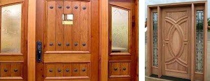 Дървени входни врати