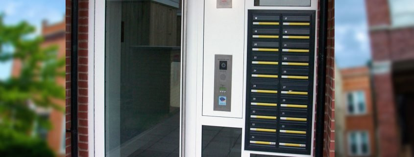 Входни врати за блок от Врати ABC
